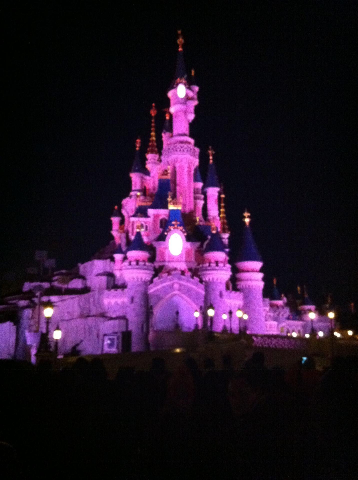Le Château de la Belle au Bois Dormant de nuit