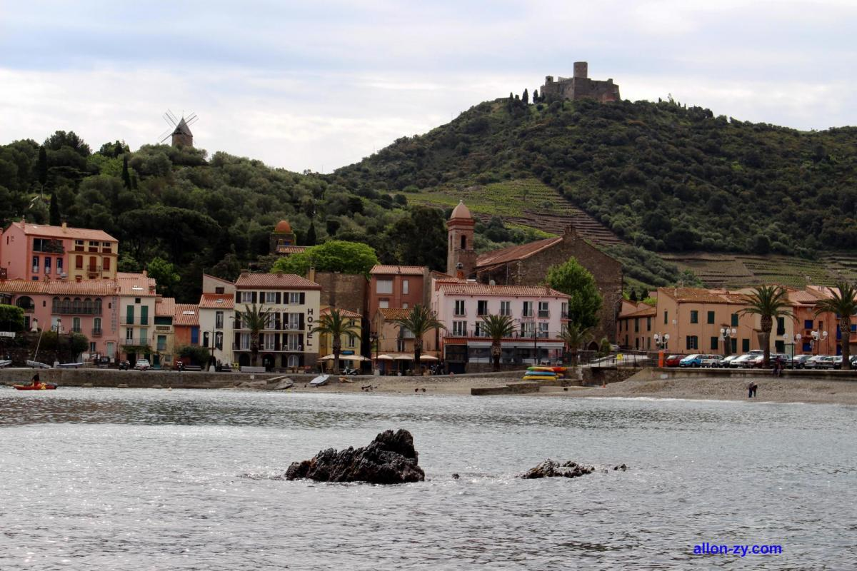 Moulin de collioure et fort saint elme